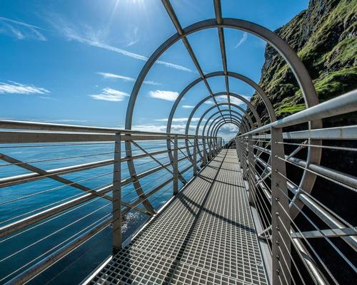 Located along the Causeway Coastal Route in Northern Ireland, The Gobbins is a 2.5 hour guided walking tour