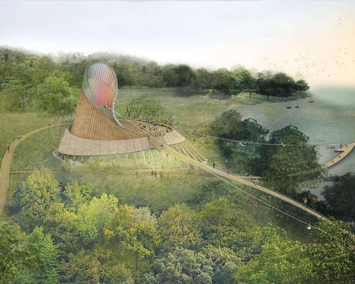 Eden Project Foyle will feature a range of sanctuaries and enclosures for visitors to discover, around a centrepiece building called The Acorn / Grimshaw Architects