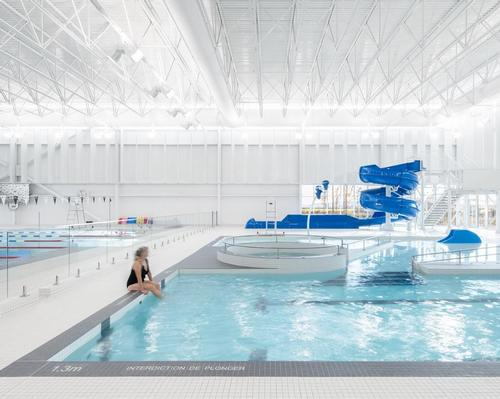 Lemay's clever design creates a sleek but efficient aquatics centre