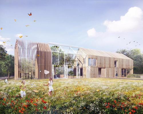 The Symbiotic House is based on the traditional values of living in harmony with nature