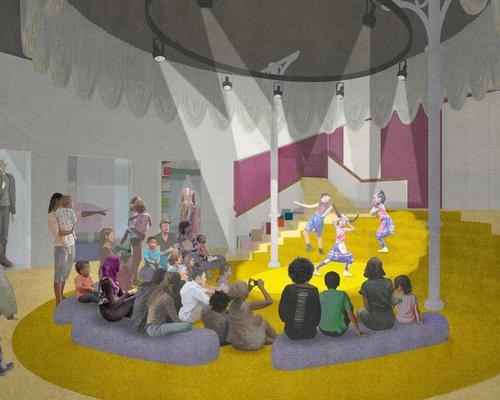 The new plans for the museum include performance spaces for children to express themselves
