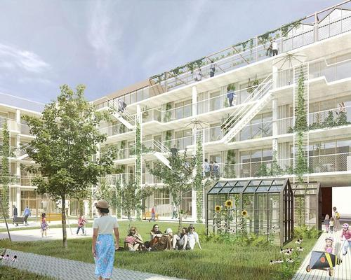 Sundsholmerne will feature a variety of housing with communal facilities that will help to minimise energy use and strengthen the social aspect of the community / C.F. Møller