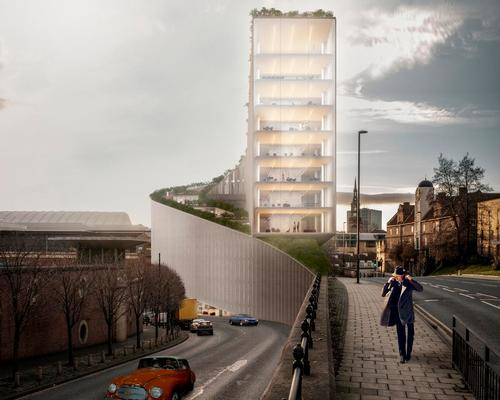The building will have a slender form of just 13m (43ft) in width