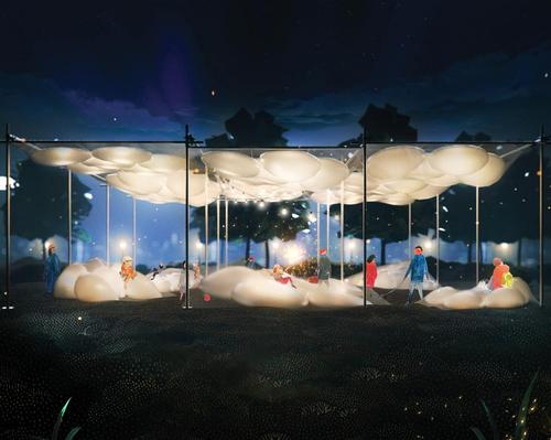 City of Dreams Pavilion Competition winners constructed from air and pyramids