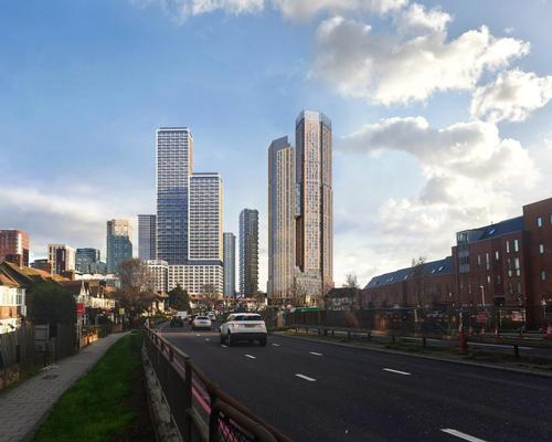 4 Portal Way will rise to 123m (404ft) at its highest level, with its two towers rising to 45 and 55 storeys