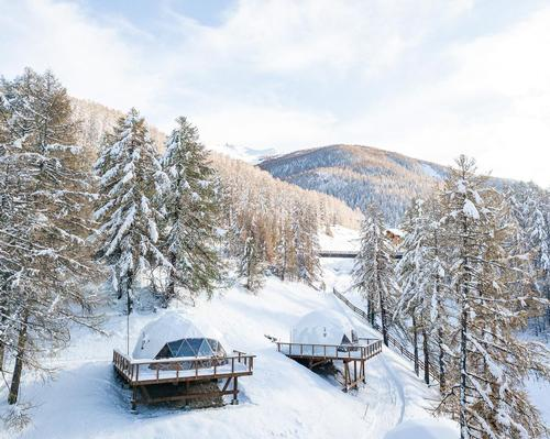 FUGU adds bubble accommodation village to ski resort hotel