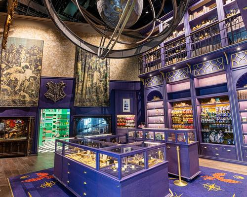 The retail experience underwent a total redesign inspired by the Diagon Alley set