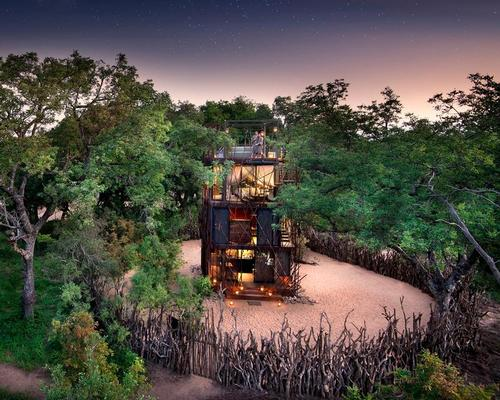 The Ngala Tree House covers an area of less than 25sq m (270sq ft)