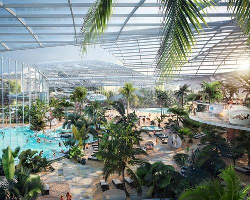 Therme Manchester will feature wellbeing facilities, a family area in a tropical environment and botanical gardens / Therme Group