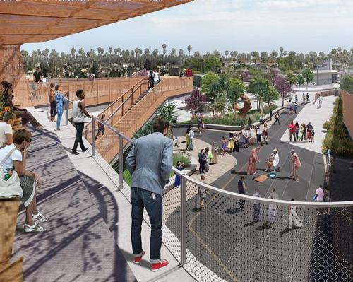 Destination Crenshaw was conceived to celebrate the energy and accomplishments of Black LA / Perkins and Will